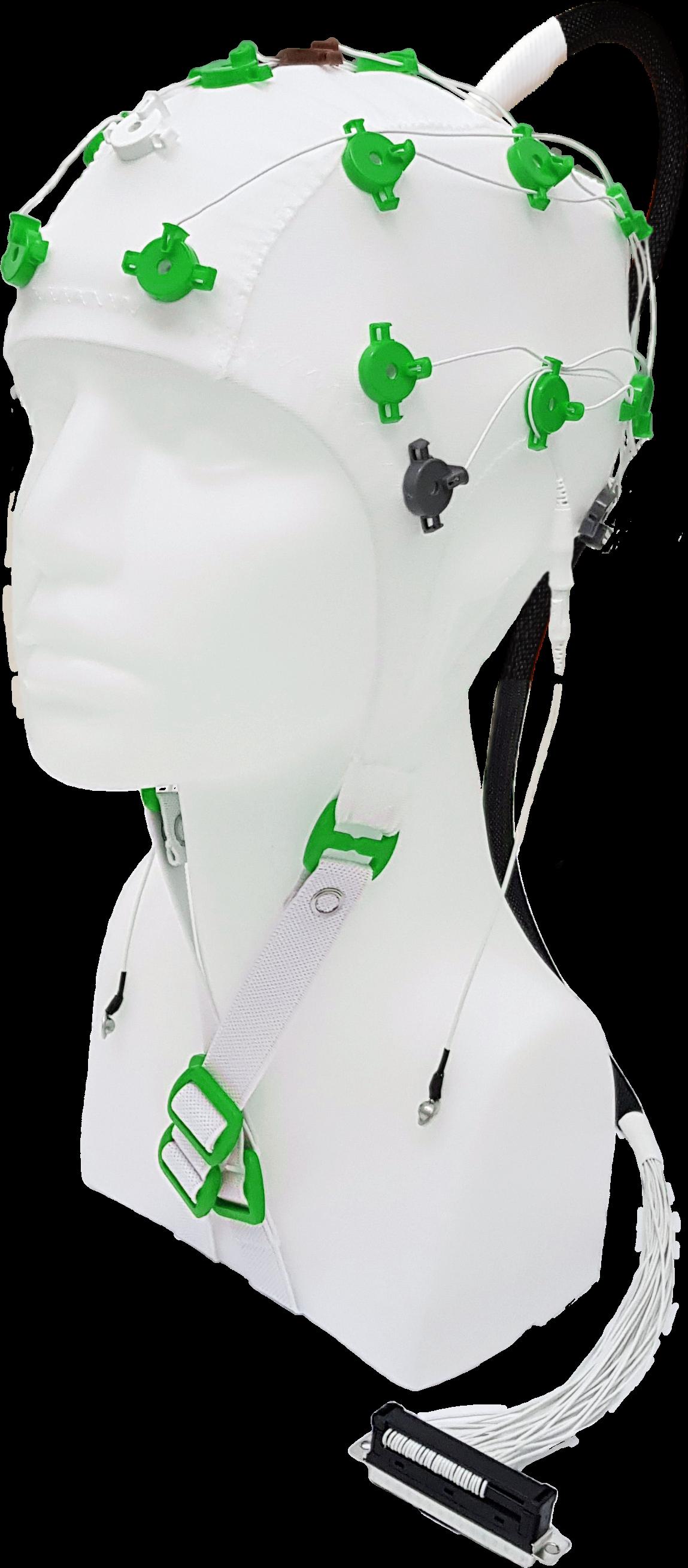 EEG čepice FlexiCAP UP 19+6 kanálů - nový IFCN standard: XS (47 – 51) cm, zelená, NEOBSAHUJE KABEL PRO PŘIPOJENÍ 45-893