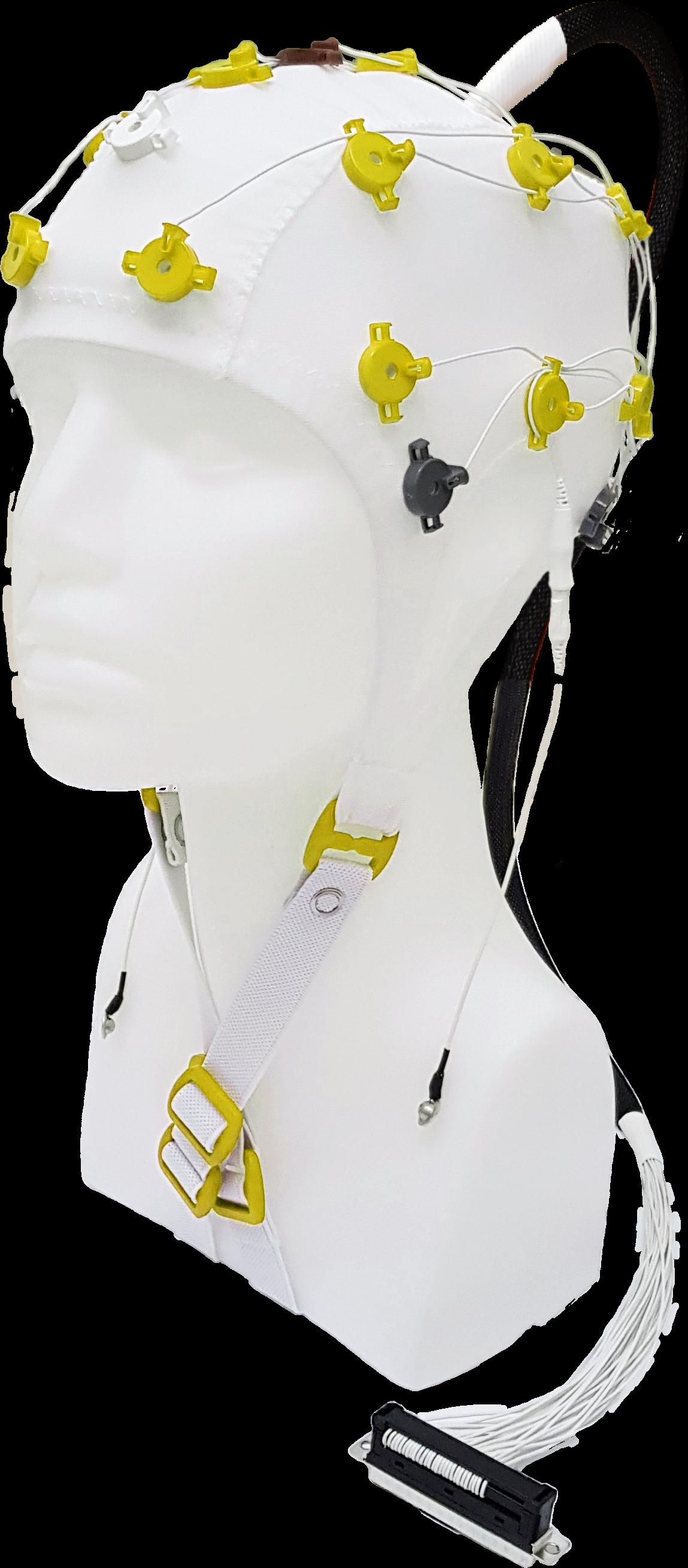 EEG čepice FlexiCAP UP 19+6 kanálů - nový IFCN standard: S (51 – 55 cm), žlutá, NEOBSAHUJE KABEL PRO PŘIPOJENÍ 45-893