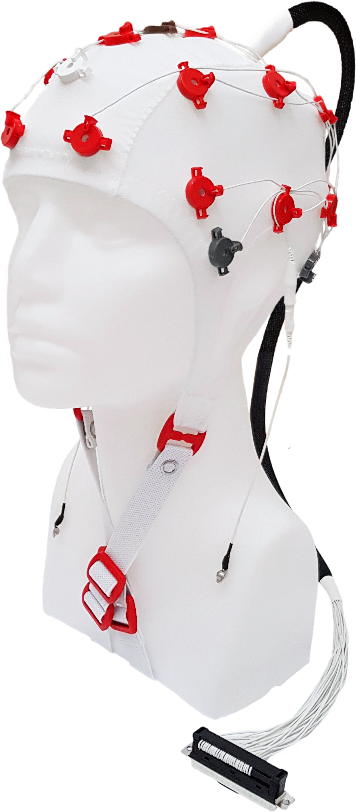 EEG čepice FlexiCAP UP 19+6 kanálů - nový IFCN standard: M (55 – 59 cm), červená, NEOBSAHUJE KABEL PRO PŘIPOJENÍ 45-893