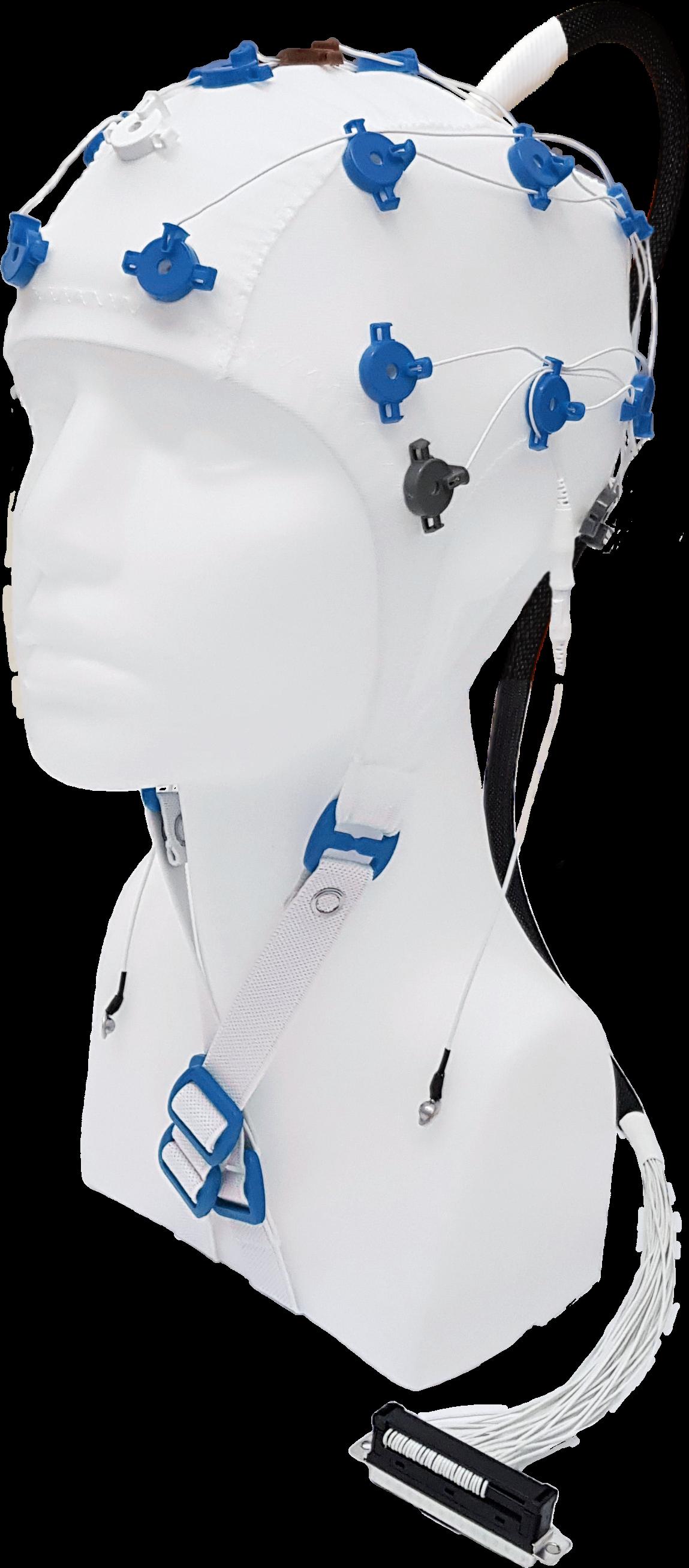 EEG čepice FlexiCAP UP 19+6 kanálů - nový IFCN standard: L (59 – 63 cm), modrá, NEOBSAHUJE KABEL PRO PŘIPOJENÍ 45-893