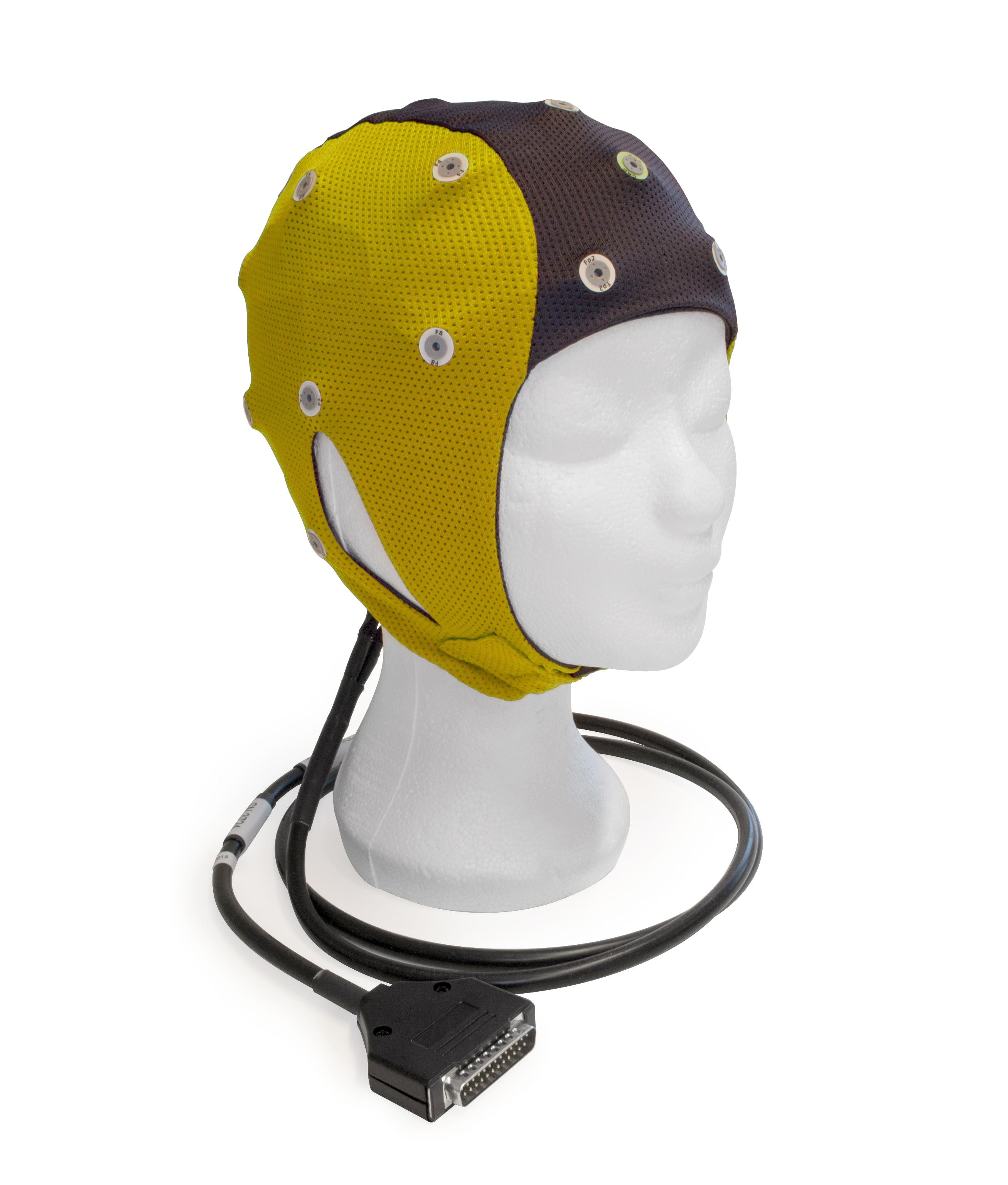 EEG čepice ANT-Neuro: S (47 – 51 cm, Žlutočerná)