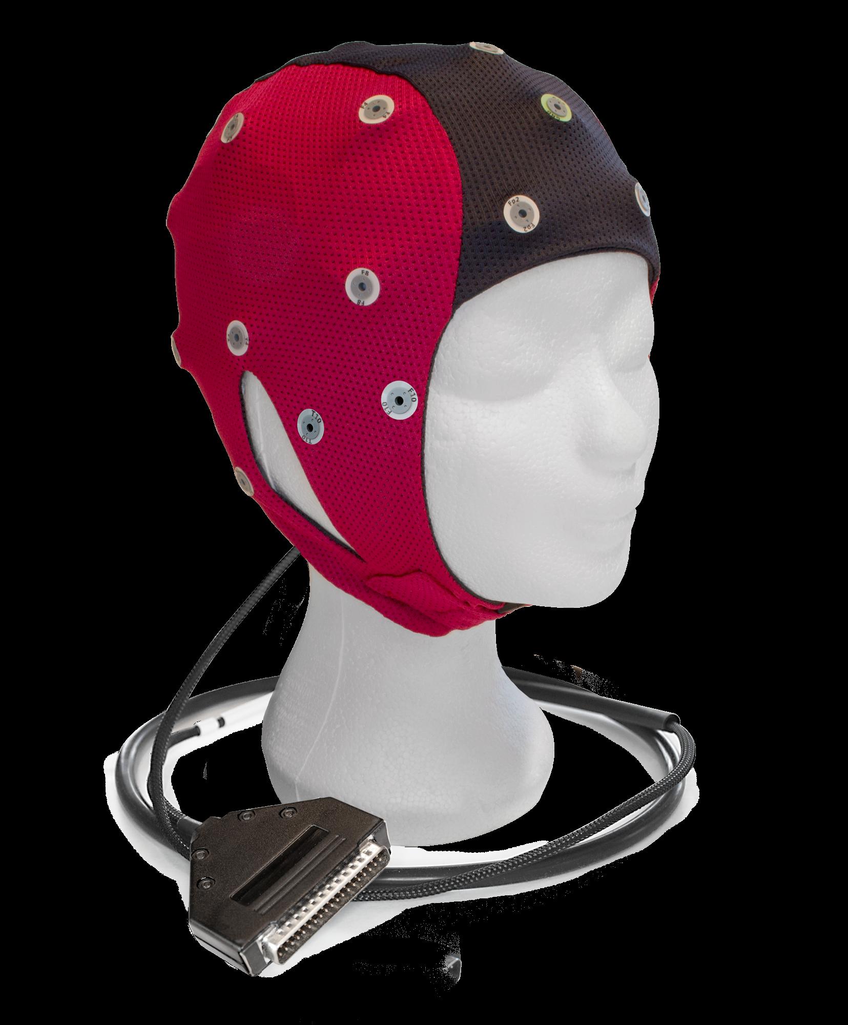 EEG čepice ANT-Neuro IFCN: M (51 – 56 cm, Červenočerná)