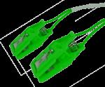 Pár ušních elektrod Sn (cín), plastový klips: zelená